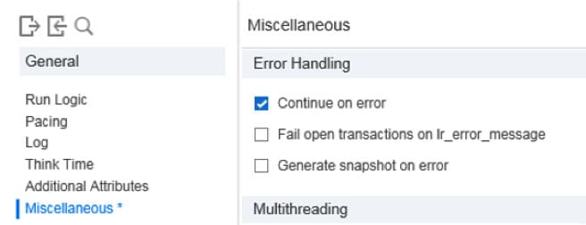 How Granularity Influences the Load Testing Results error settings2