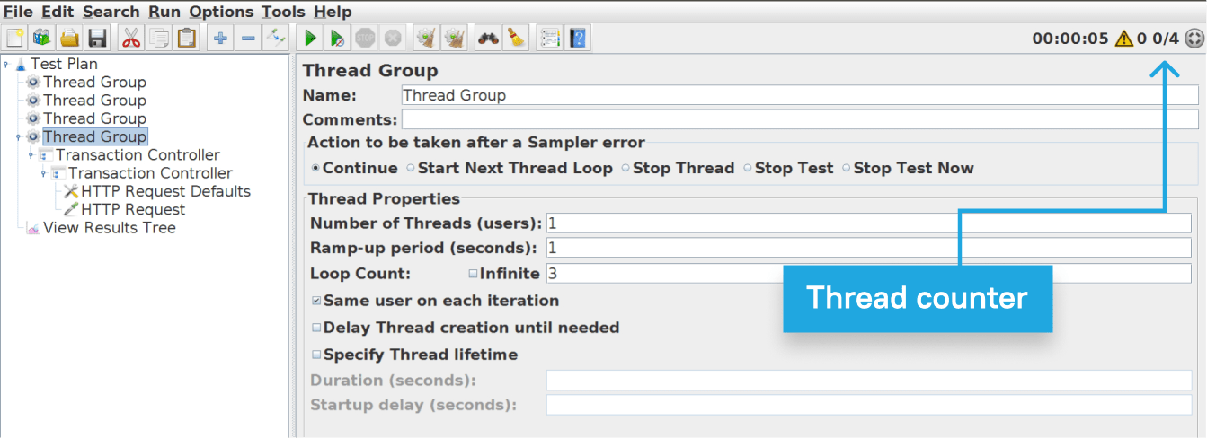 GUI mode parameters