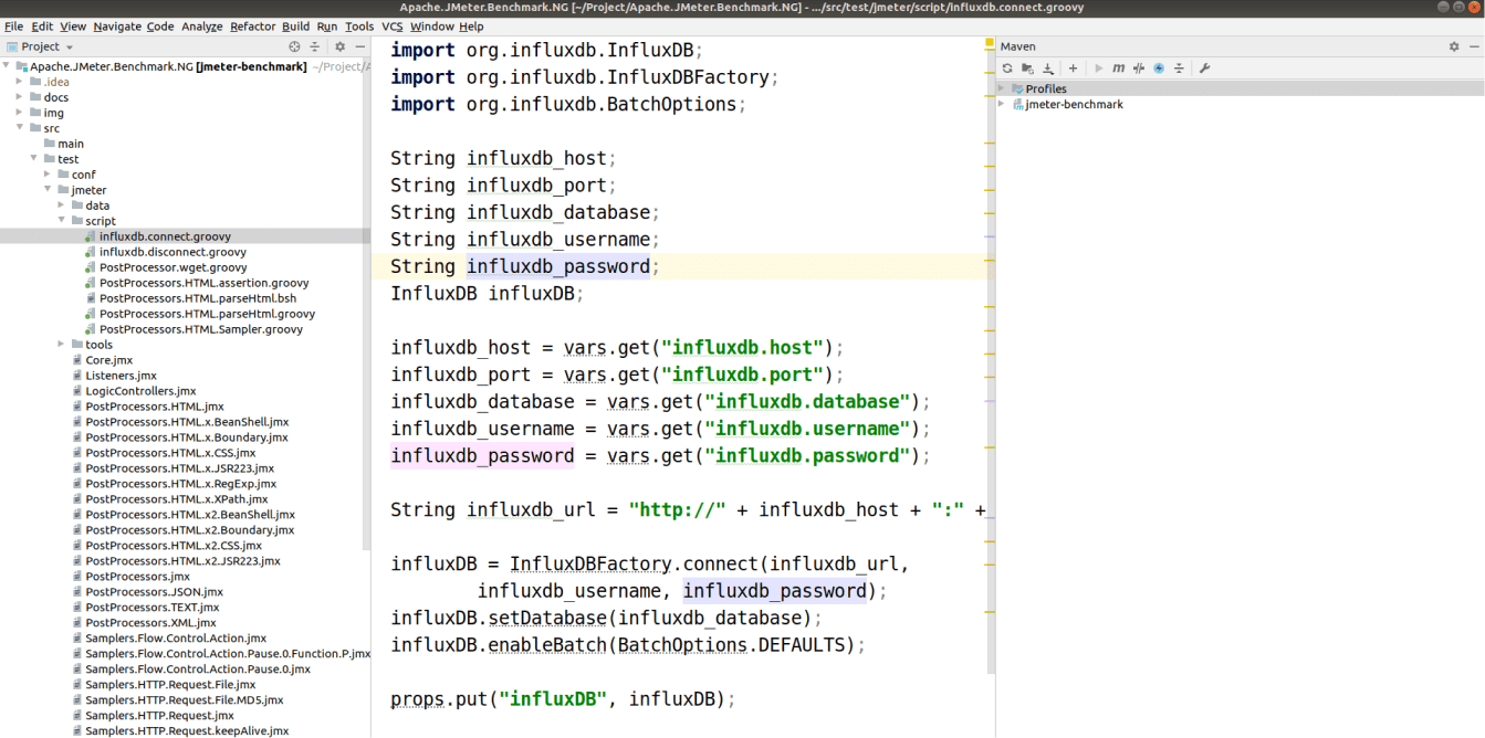 IntelliJ IDEA for JMeter with *.groovy scripts in files