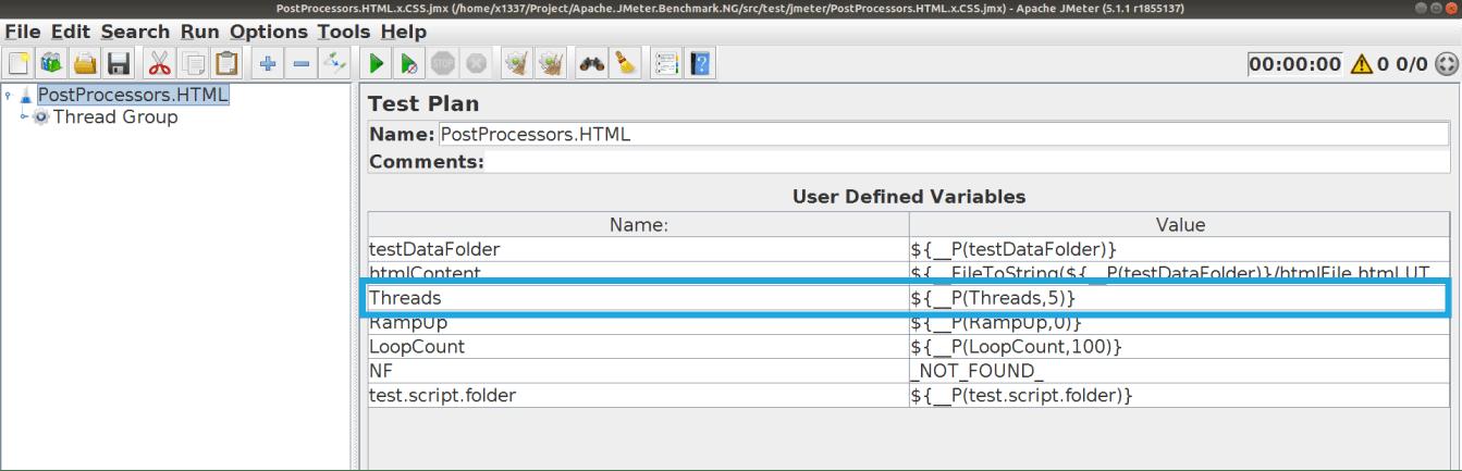 JMeter Property parameters