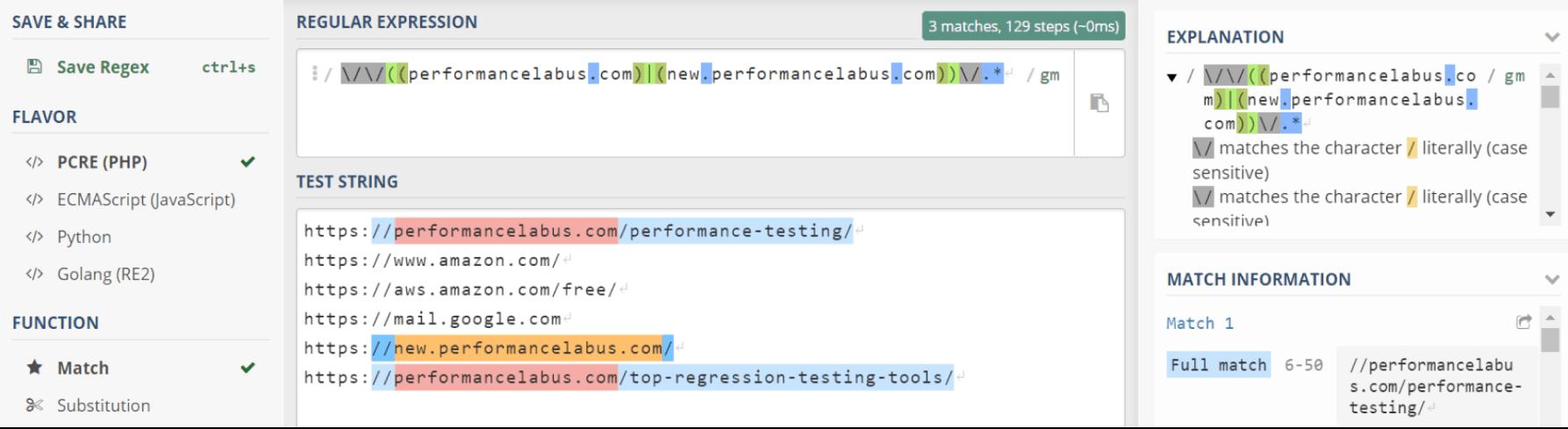Domain filtering of the JMeter Samplers