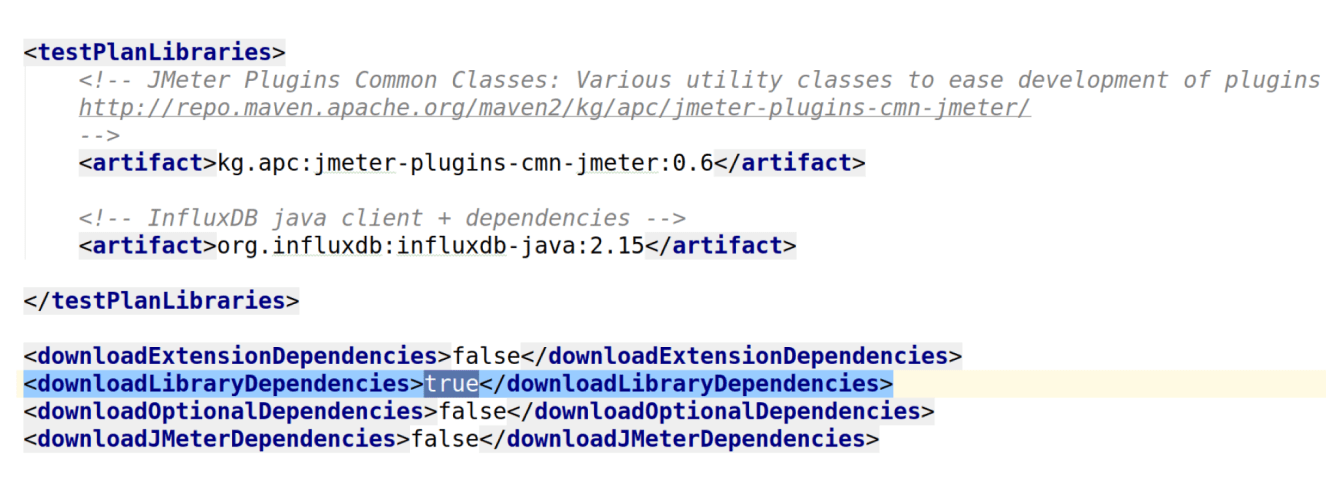 Maven for JMeter with the management of dependencies